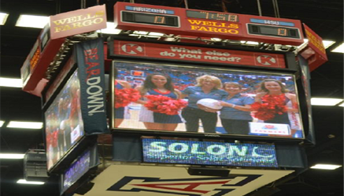 Georgiana was recognized on the big screen at the McKale Center in Tucson!