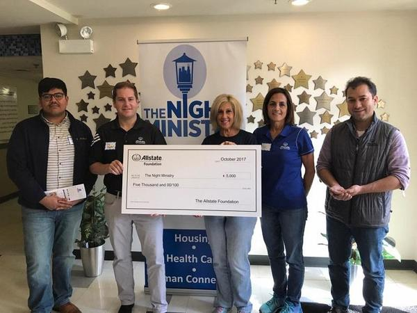 Ortega Family Agency - The Night Ministry Receives Allstate Foundation Helping Hands Grant
