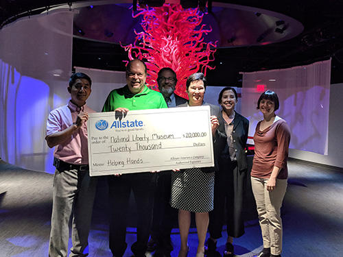 Kfir Yuster - National Liberty Museum Receives Allstate Foundation Helping Hands Grant