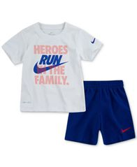 Image of Nike Little Boys 2-Pc. Dri-FIT Heroes Graphic T-Shirt & Shorts Set