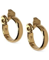 Image of Anne Klein Gold-Tone Wide Hoop E-Z Comfort Clip-on Earrings