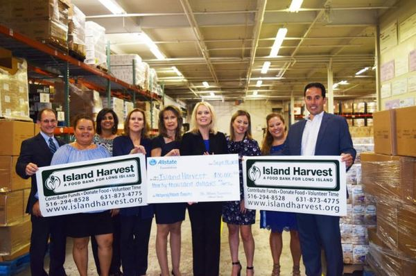 Steve Conte - Allstate Foundation Helping Hands Grant for Island Harvest