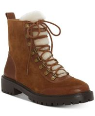Image of Lucky Brand Ilianna Lace-Up Faux Fur Hiker Boots