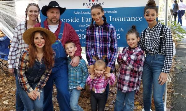 Agent Kevin Bobkoskie and his family dressed up for a Halloween event at the  Annmarie Sculpture Garden.