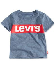 Image of Levi's® Baby Boys Logo Graphic Cotton T-Shirt