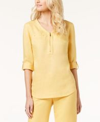 Image of JM Collection Zipper-Front Tunic, Created for Macy's