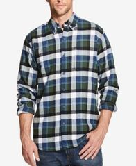 Image of Weatherproof Vintage Men's Plaid Brushed Flannel Shirt
