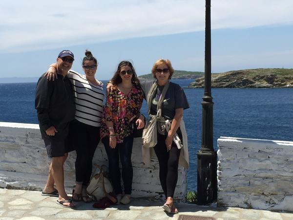 My wife and two daughters in the Greek island of Paros (2015)