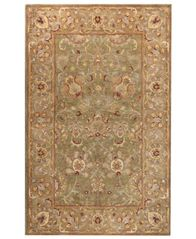 "Image of CLOSEOUT! Bashian Area Rug, Wilshire HG117 Light Green 5'6"" x 8'6"""