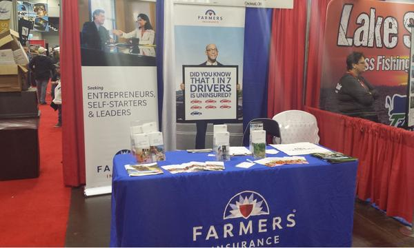 Farmers booth at a show