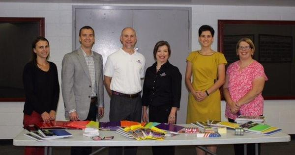 Will Burnell Donates School Supplies to LTHS
