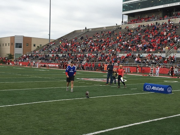 Justin Sorensen - Allstate Field Goal Net Challenge at Ball State University