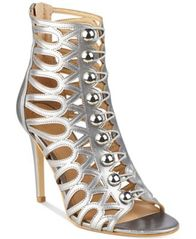 Image of GUESS Women's Perlina Button-Up Caged Sandals