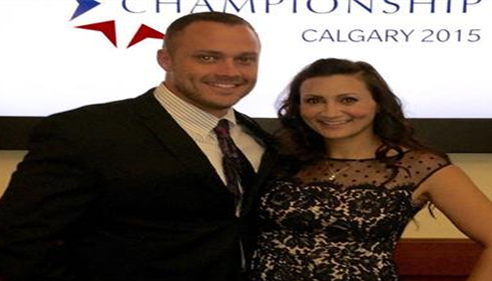 Mr. and Mrs. Schomburg enjoying Calgary for the Farmers® Championship 2015.