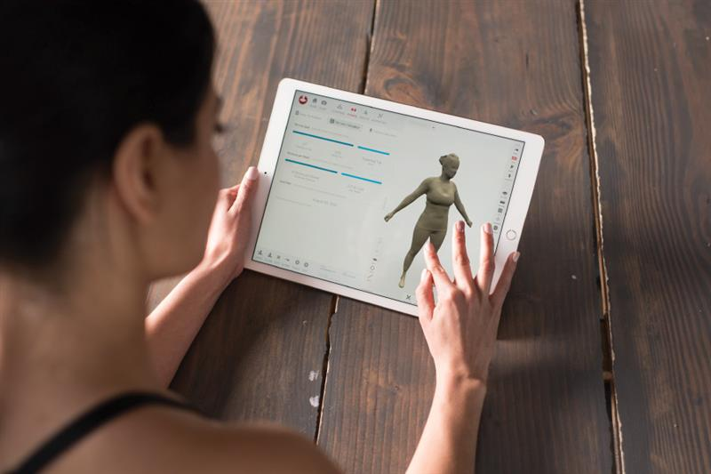 3D body scan for weight loss.