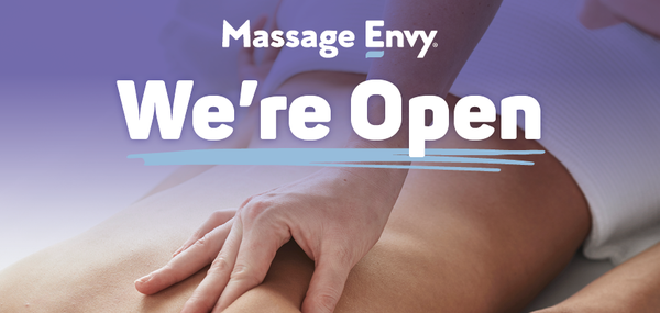 This Massage Envy location is now open.