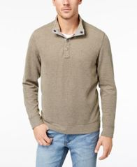 Image of Tommy Bahama Men's Cold Springs Mock Neck Sweater, Created for Macy's