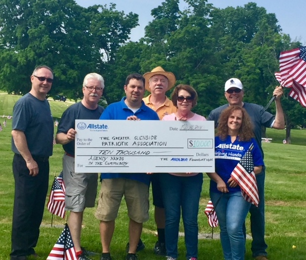 Leslie Wolner Lederhandler - Allstate Foundation Helping Hands Grant for Greater Glenside Patriotic Association