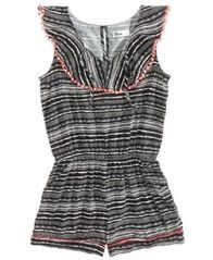 Image of Epic Threads Geo-Print Romper, Big Girls, Created for Macy's