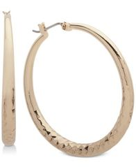 Image of Nine West Textured Hoop Earrings