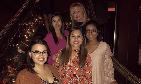 Group of women at a holiday party