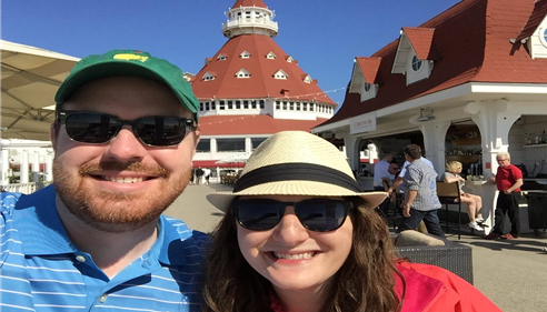 James and his wife, Alison, at the world famous Hotel Del Coronado in San Diego.