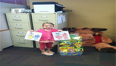 Our winner of the Home Show Easter Basket coloring contest.