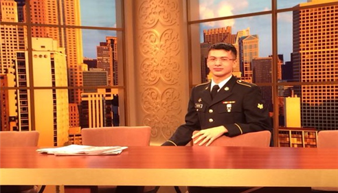 The agent Roberto Castro servicing our country at the Windy City Live Studios!