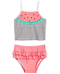 Image of First Impressions Baby Girls Watermelon Tankini, Created for Macy's