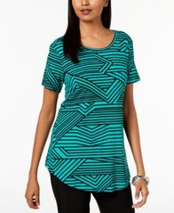 Image of JM Collection Printed Scoop-Neck Top, Created for Macy's