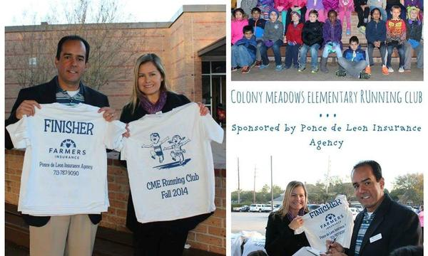 Our Agency Sponsoring The Running Club at Colony Meadows Elementary School!