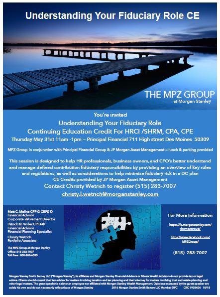 The MPZ Group | Des Moines, IA | Morgan Stanley Wealth