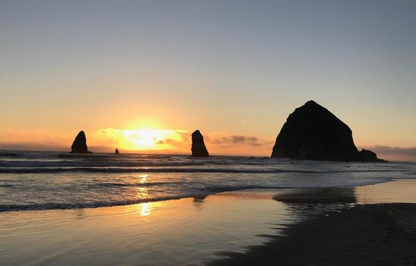 Phil Aitken - Beautiful Cannon Beach, OR at sunset.