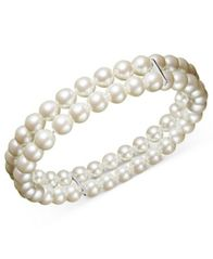 Image of Charter Club Two Row Simulated Pearl (6 mm)