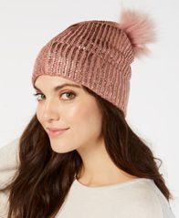 Image of I.N.C. Liquid Shine Beanie, Created for Macy's