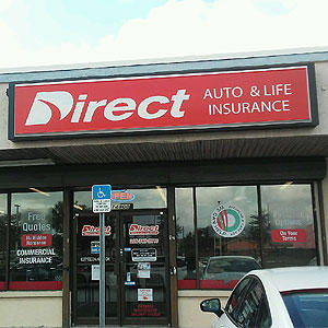 Front of Direct Auto store at 14800 North West 7th Avenue, North Miami