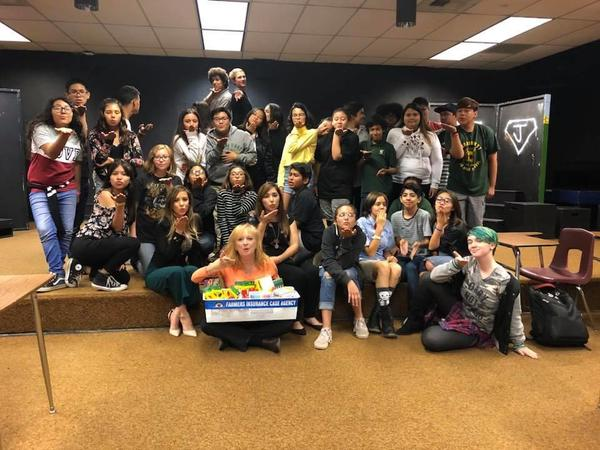 Say hello to Mrs. Browne's drama class at Brookhurst Middle School in Anaheim.