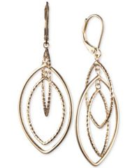 Image of Anne Klein Gold-Tone Orbital Drop Extra Large Earrings