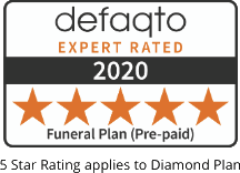 Defaqto 5 Star Rating for Dignity Funeral Plans