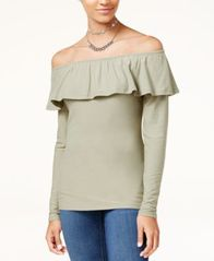 Image of Ultra Flirt Juniors' Marilyn Off-The-Shoulder Top