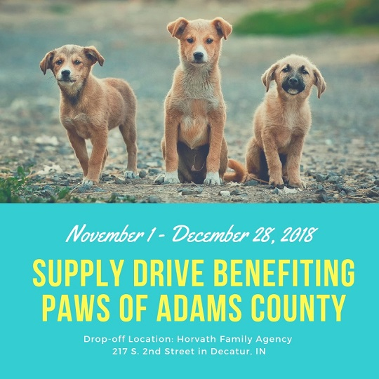 Eric Horvath - Supply Drive Benefiting PAWS of Adams County