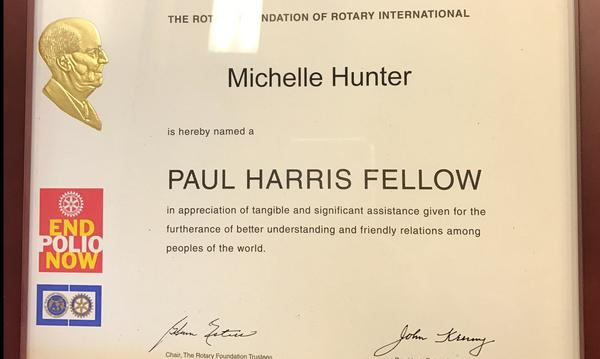 Paul Harris Fellow recipient