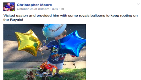 Pic 1 of facebook post. Easton Strong! www.caringbridge.org/visit/eastonmoore