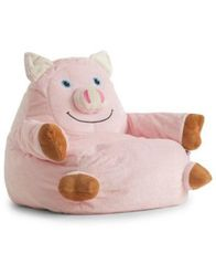 Image of Penelope the Pig Bean Bag Chair, Quick Ship