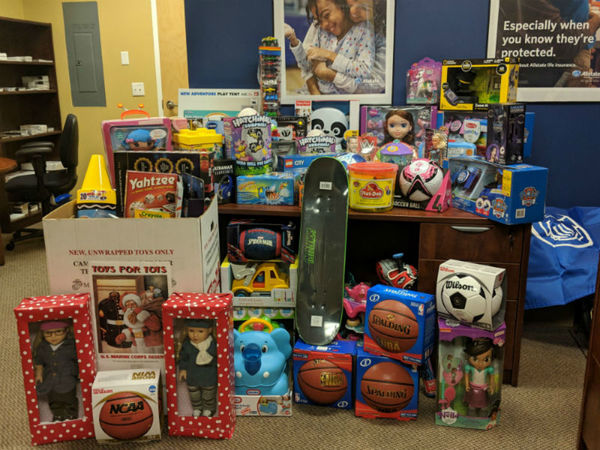 Anthony Anzideo - Allstate Foundation Helping Hands Grant for Marine Toys for Tots
