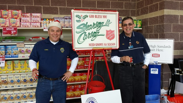 Ringing the bell for the Salvation Army's Red Kettle